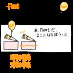 floatによる浮動要素